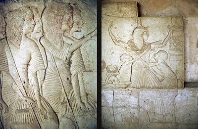 Reliefs in the tomb of Horemheb