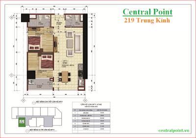 Căn hộ số 11 chung cư Central Point  - diện tích 67m2.