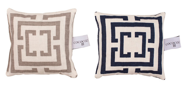 COCOCOZY Lavender Sachets in gray and navy