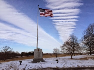Chuck and Lori's Travel Blog - Flag and Monument, Valley Forge