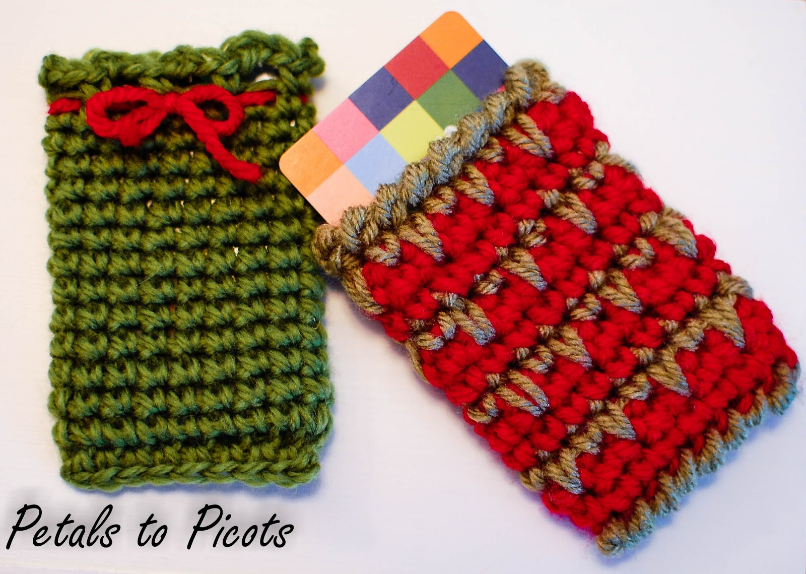 Free Crochet Pattern Gift Card : Crochet Gift Card Holder Pattern - Petals to Picots