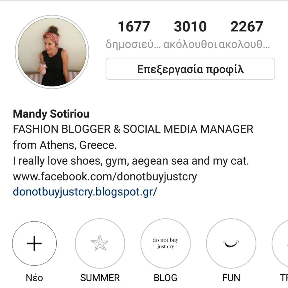 Mandy's Instagram