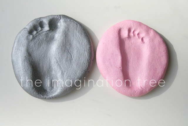 Salt dough footprint