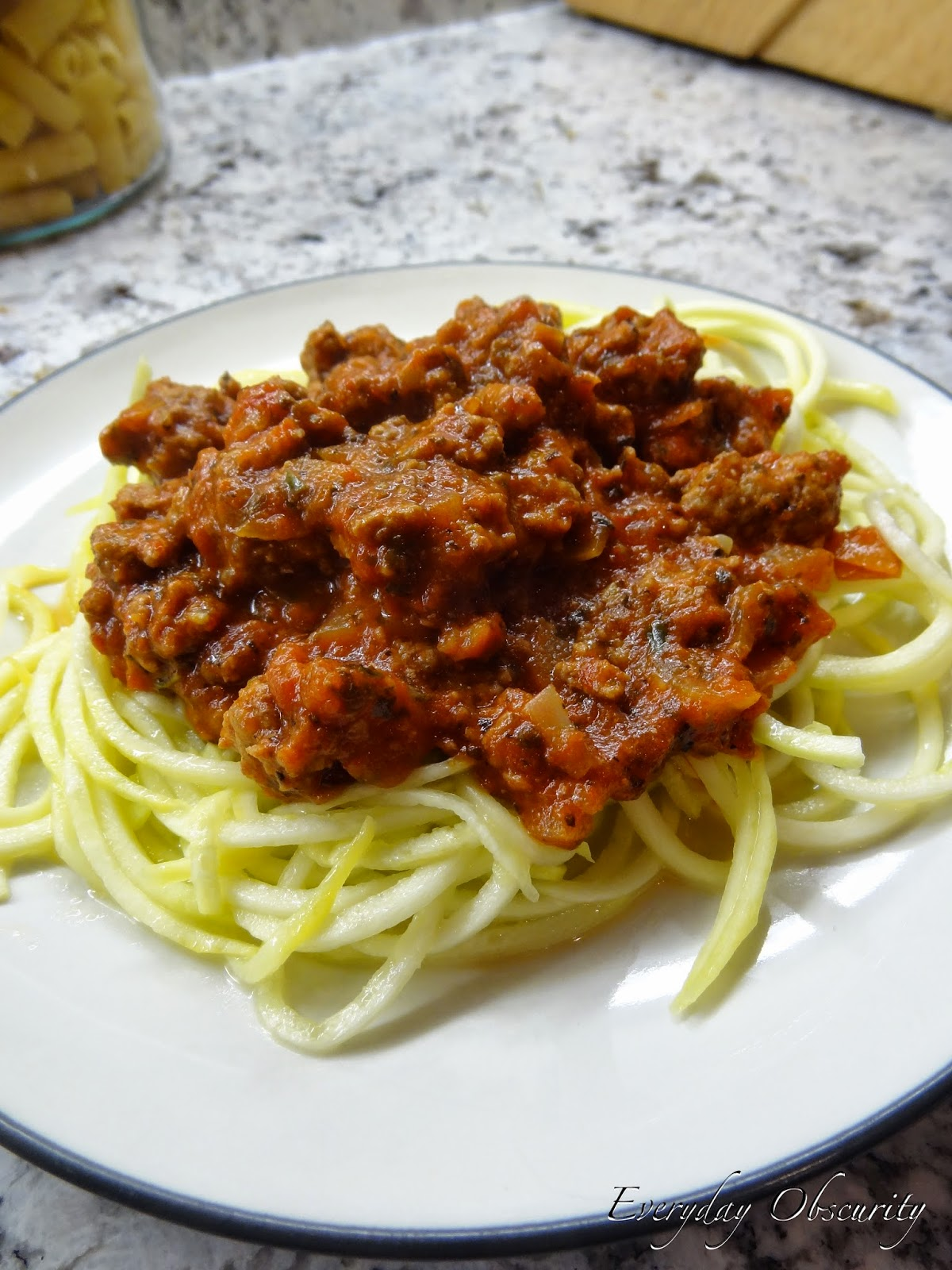Almost Homemade Spaghetti Sauce with Spiralized Squash