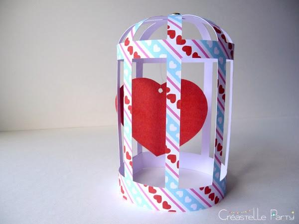 DIY cage cœur papier / paper heart cage