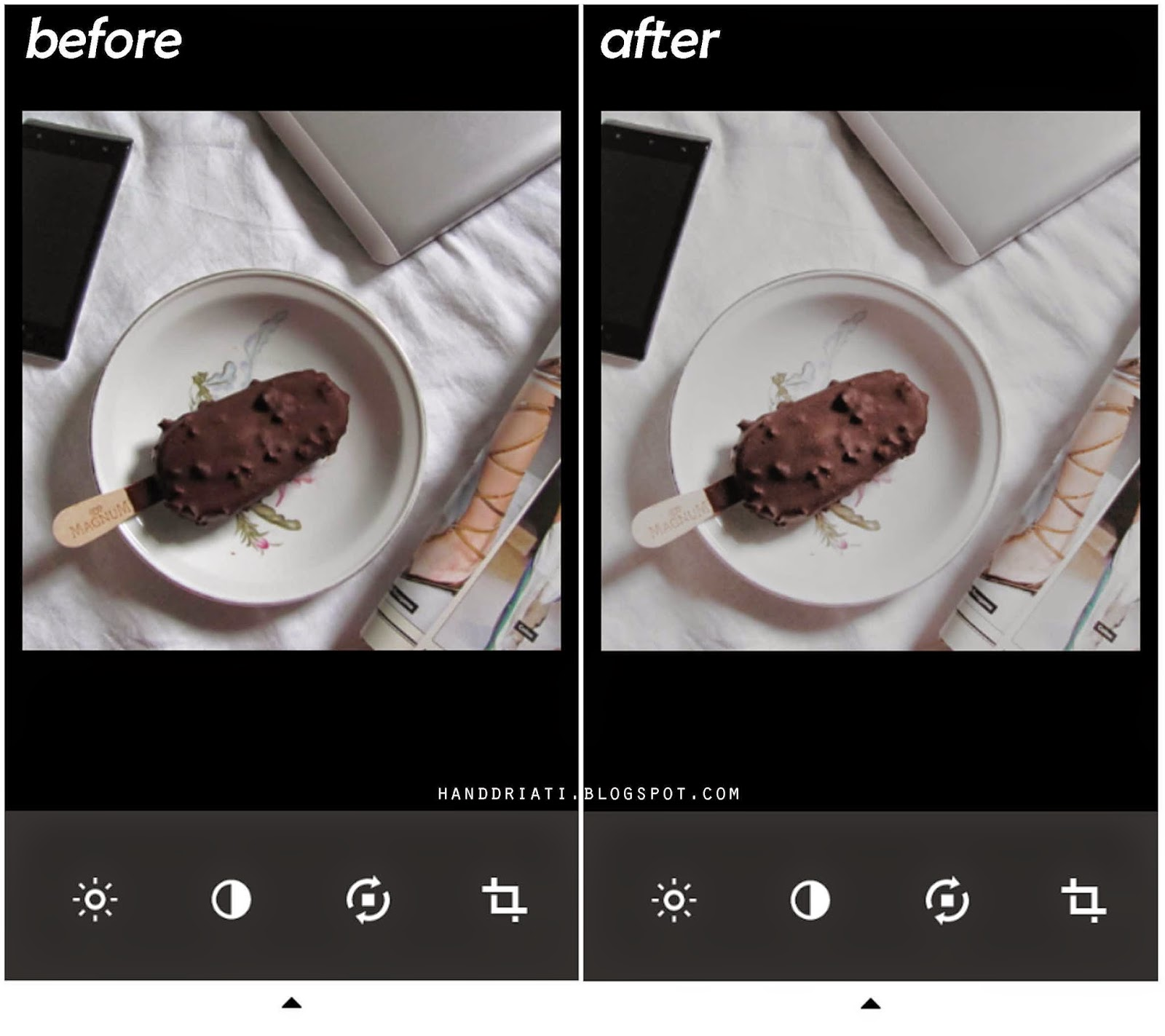 VSCO Cam Tutorial before after