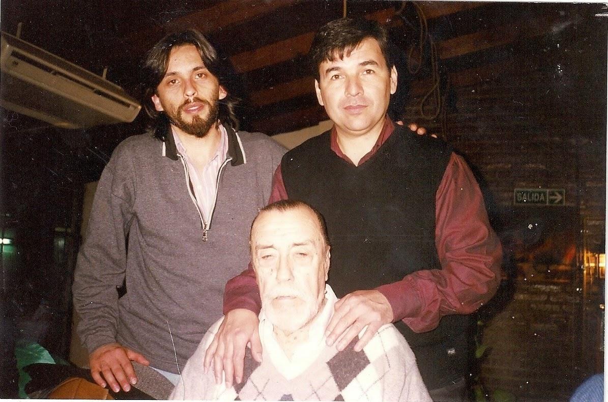 Con Hamlet Lima Quintana y Mario Díaz