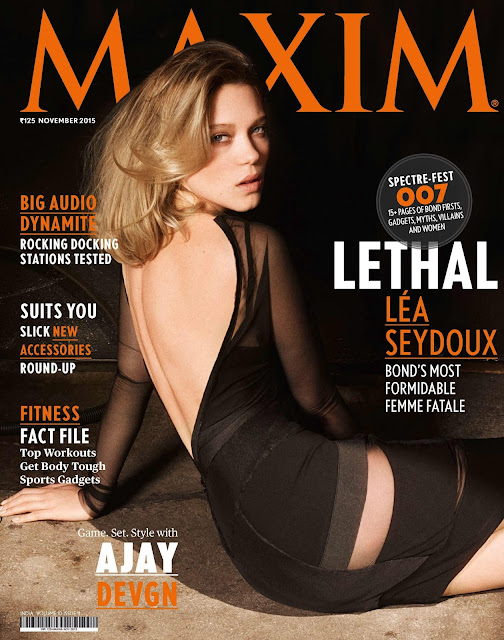 Actress, Model @ Léa Seydoux - Maxim India, November 2015
