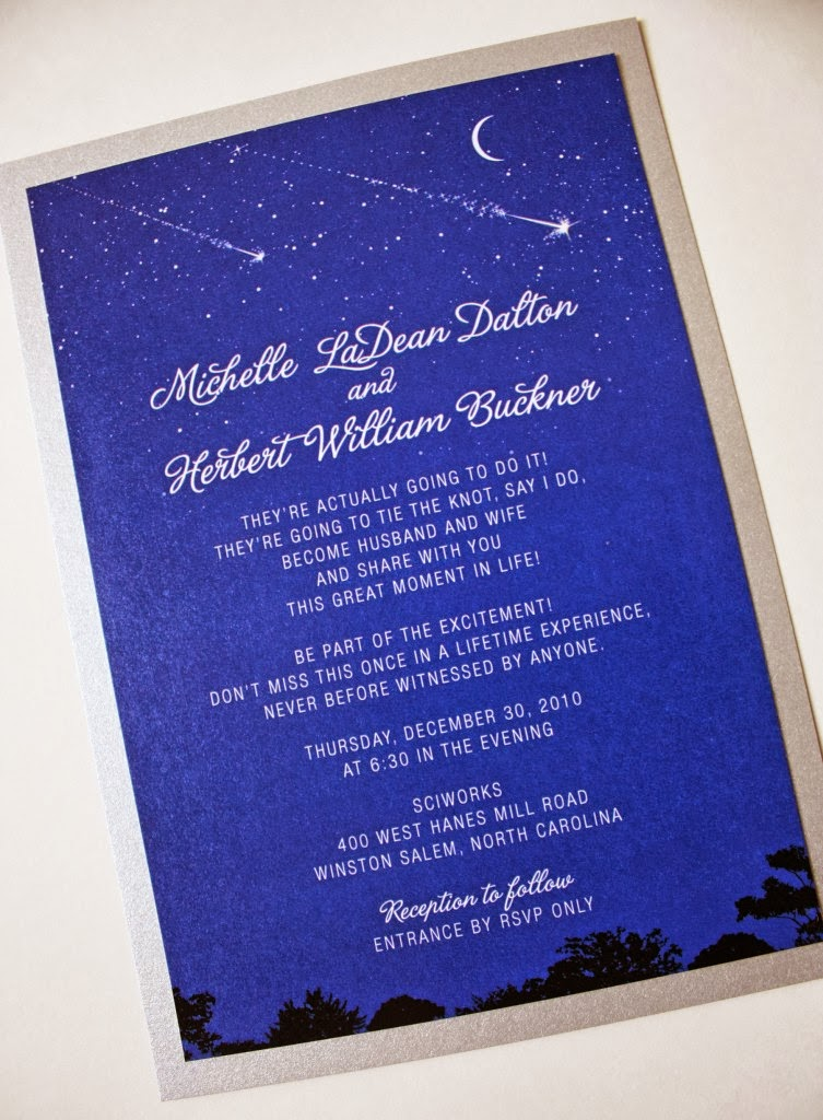 Starry Night Wedding Invitations for great invitations sample