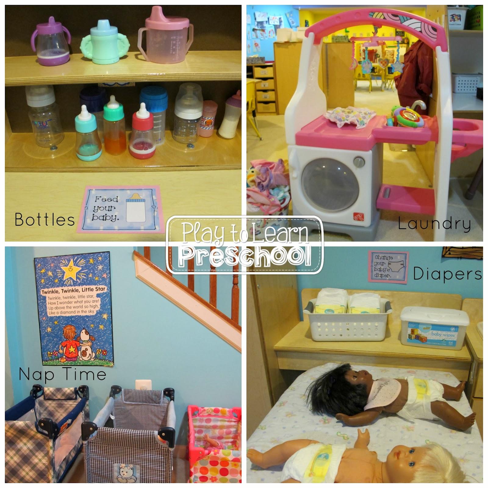 Baby Doll Nursery Dramatic Play Center for Preschoolers