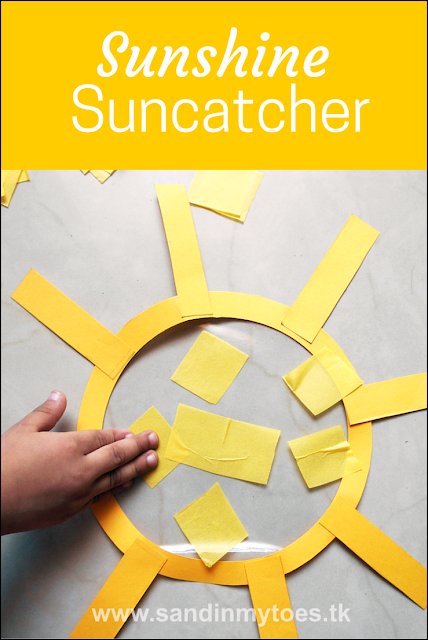 Bright and 'sunny' suncatcher craft for kids!