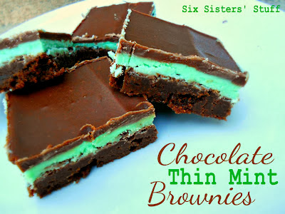 ... Things: Amazing Chocolate Thin Mint Brownies from Six Sisters' Stuff