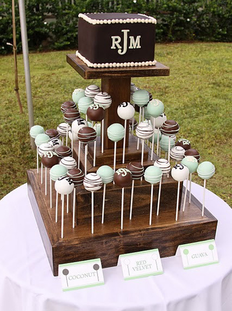 wedding cake pops ideas