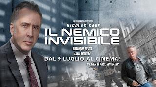Dal 9 luglio è possibile vedere Il nemico invisibile di Nicolas Cage