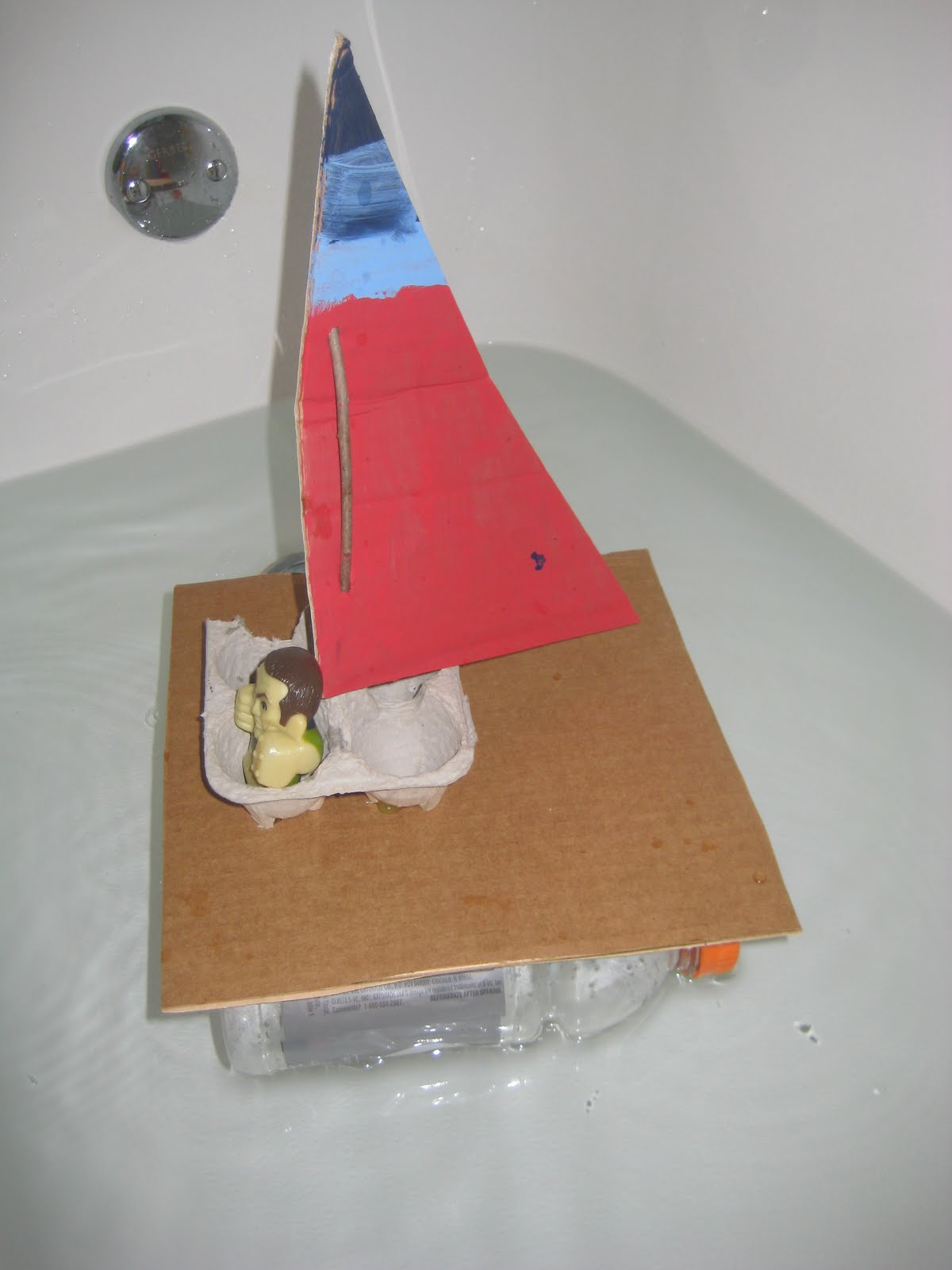 how to build a model boat from recycled materials