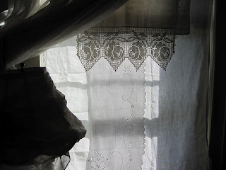 vintage linen curtains sacred cake blog