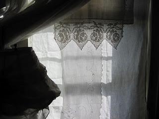 vintage linen curtains sacred cake blog