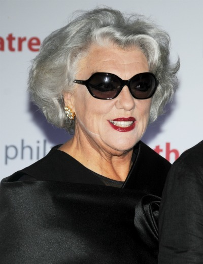 Tyne Daly Weight Loss Curly midlength gray hair