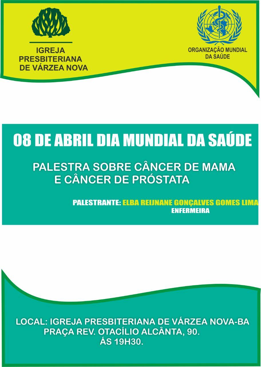 Dia 08 de abril é dia mundial da saúde