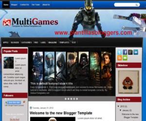Plantilla blogger Multigames