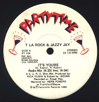 T La Rock & Jazzy Jay ‎– It's Yours (VLS) (1984) (256 kbps)