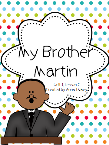 http://www.teacherspayteachers.com/Product/Journeys-Fourth-Grade-My-Brother-Martin-1145762