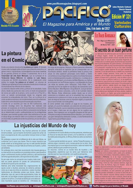 Revista Pacífico Nº 331 Variedades Culturales