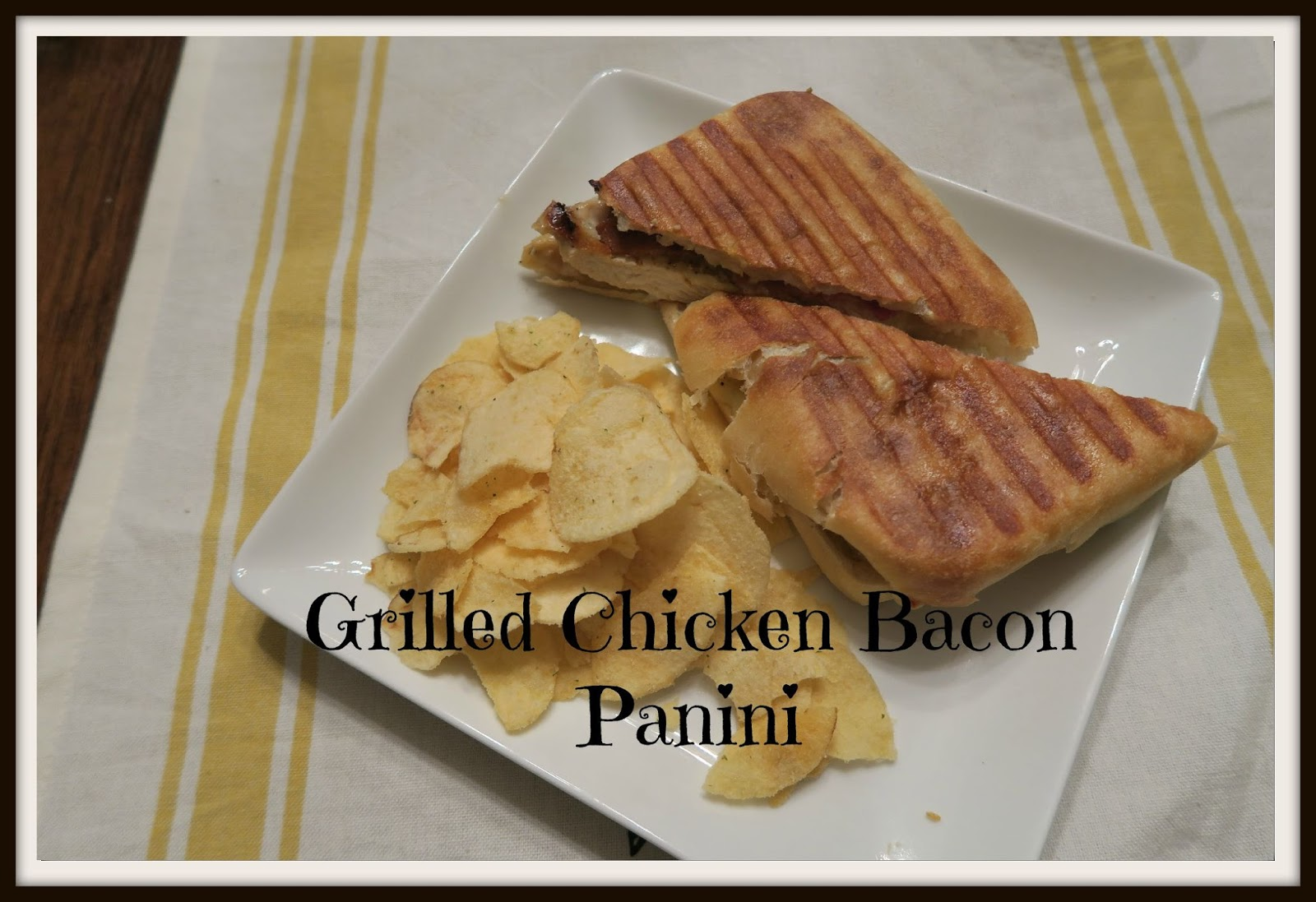 Mrs. Erica's Blog: Grilled Chicken Bacon Panini Sandwich Recipe