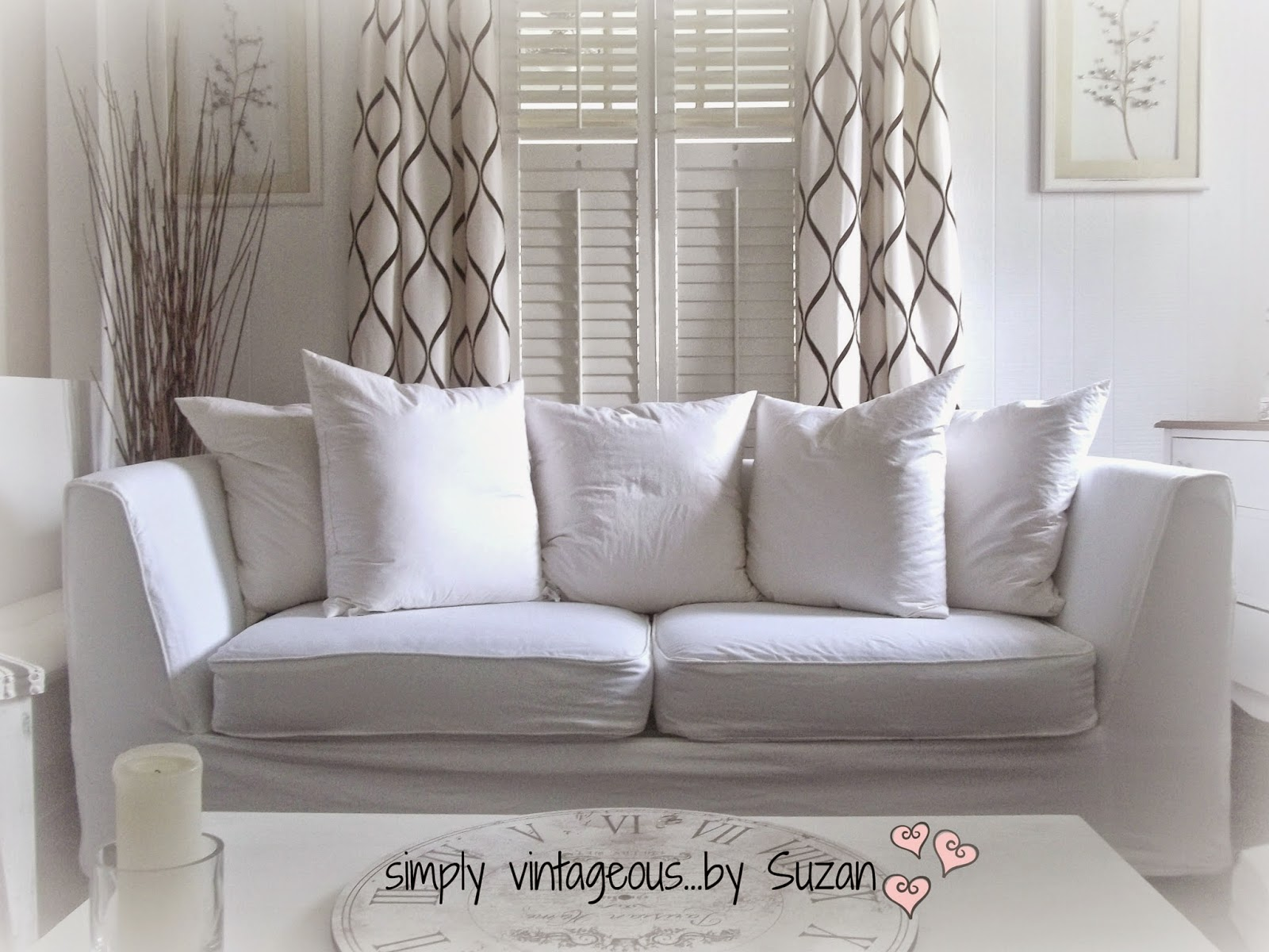Fitted White Slipcovers