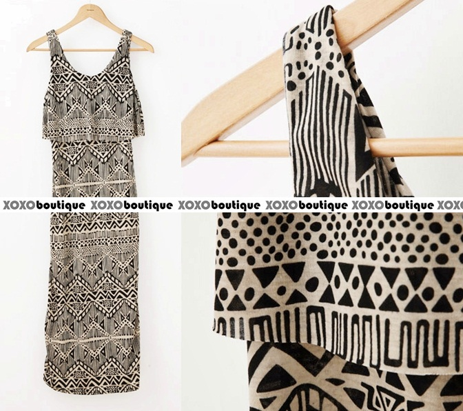 Xoxo Boutique Tribal Maxi Dress