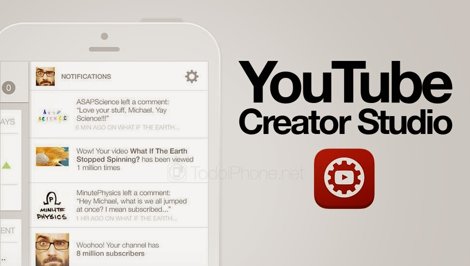 YouTube Creator Studio app, YouTube, App Store, available on the App Store, Creator Studio app, Creator Studio app for iOS, free apps, Video management app, Google,