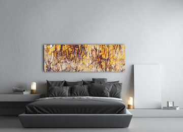 abstract, yellow, panoramic, canvas art, modern, contemporary