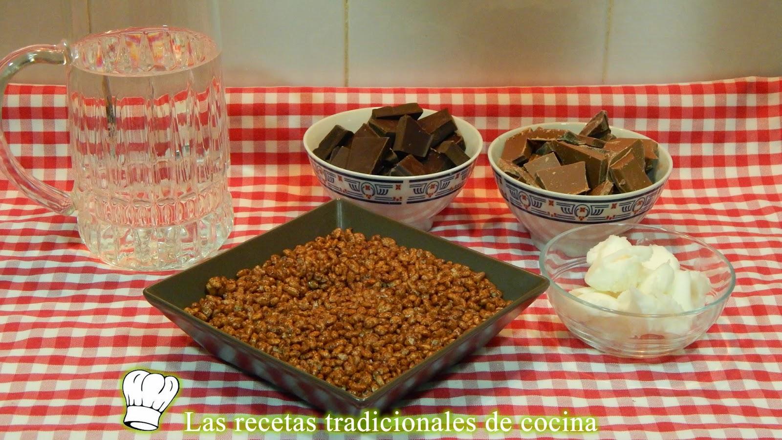 Receta de turrón de chocolate con arroz inflado