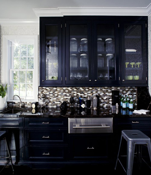 More Chic Black Kitchens