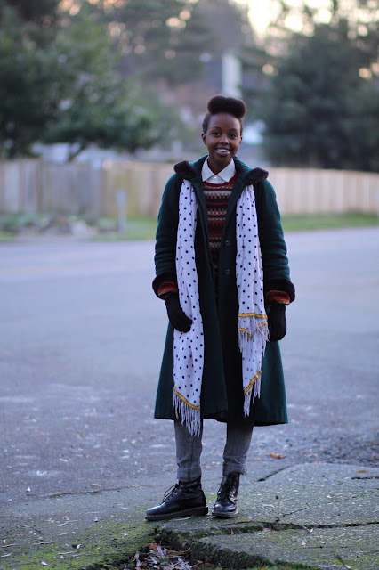 Ifrah Ahmed Madison Valley Polka Dot Scarf Doc Marten Seattle Street Style It's My Darlin'