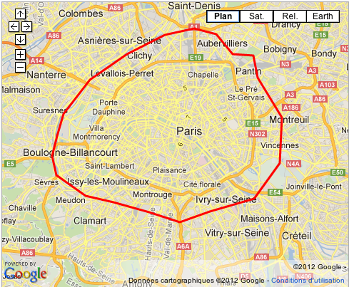 map paris et ses proches banlieues