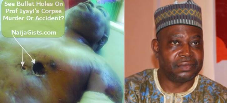 prof iyayi corpse bullet holes