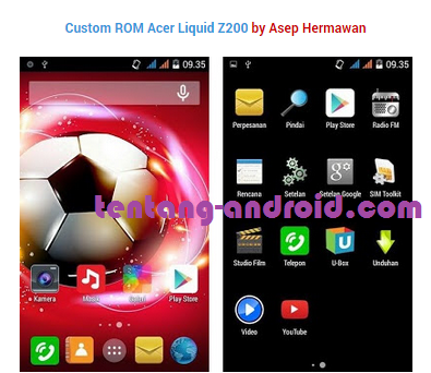 Download Custom ROM Acer Liquid Z200 terbaru 2015