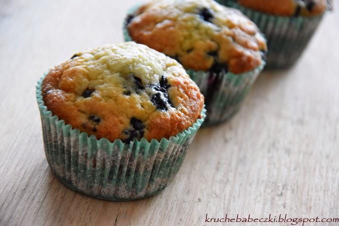 Muffinki jagodowo - kokosowe mniam :))