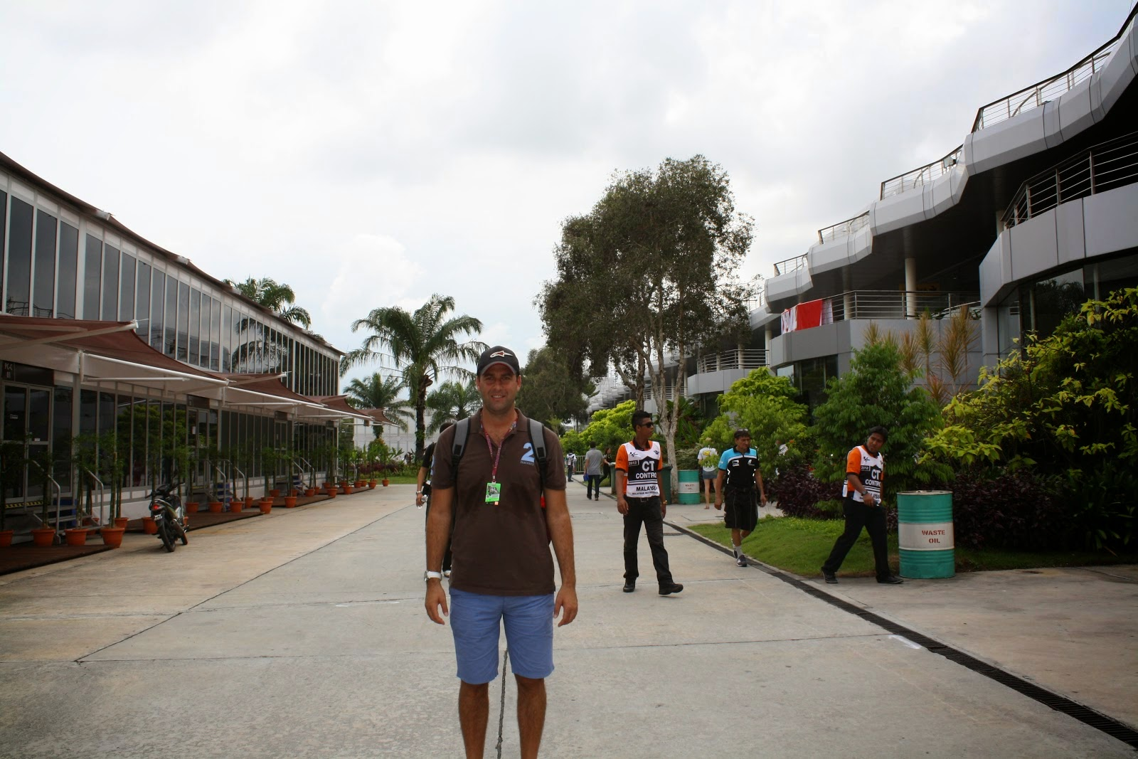 paddock del circuito de Sepang