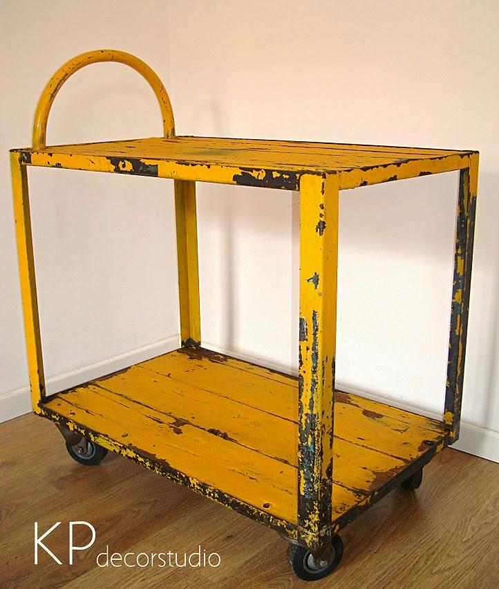 Kp tienda vintage online carro industrial como camarera for Muebles industriales online