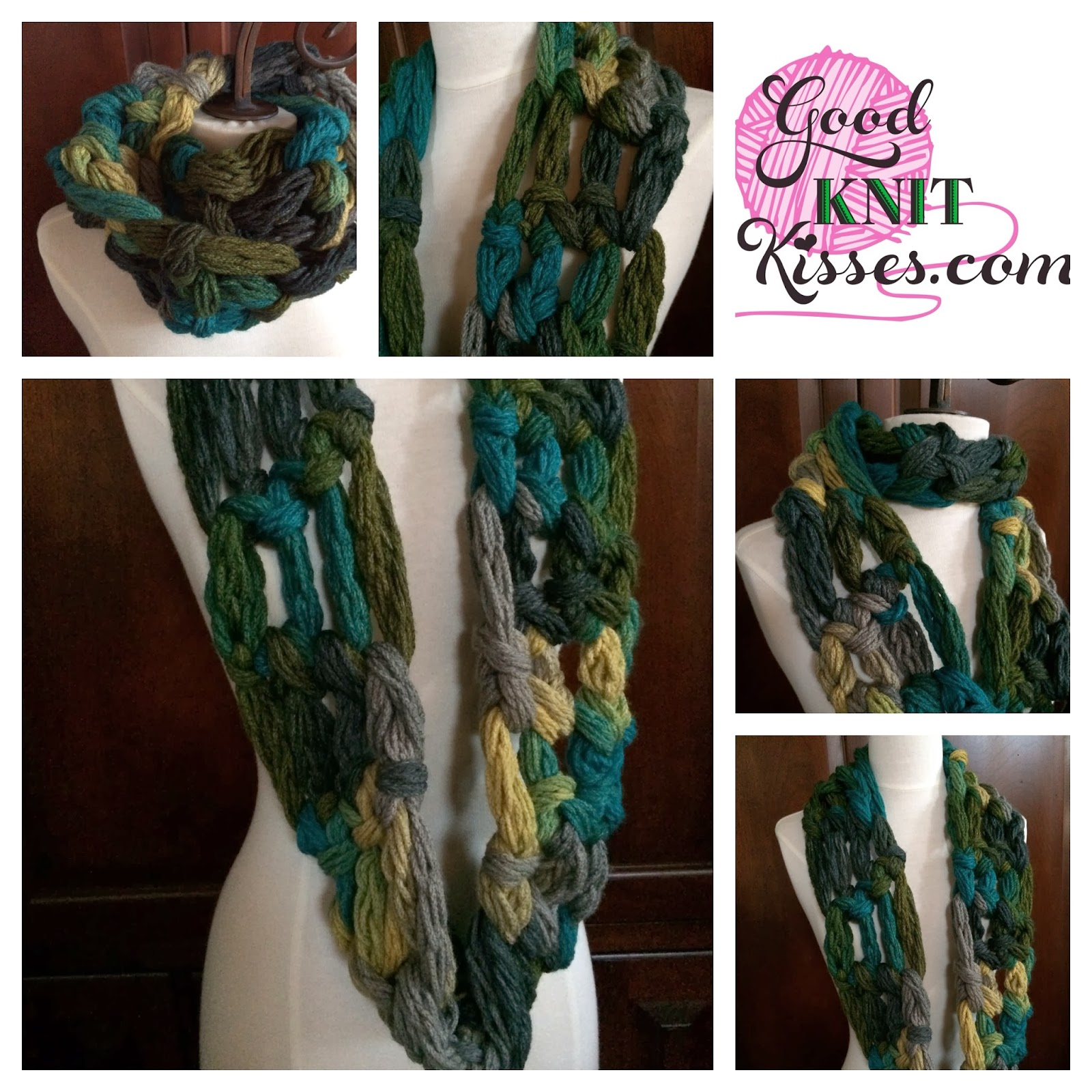 Crocheting With Your Hands : GoodKnit Kisses: Easy Crochet Along Cowl with your Hand or Finger