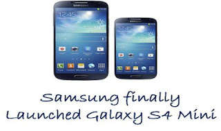 Samsung finally launched its Galaxy S4 Mini smartphone, which is basically a fully compact version of its own flagship smartphone.