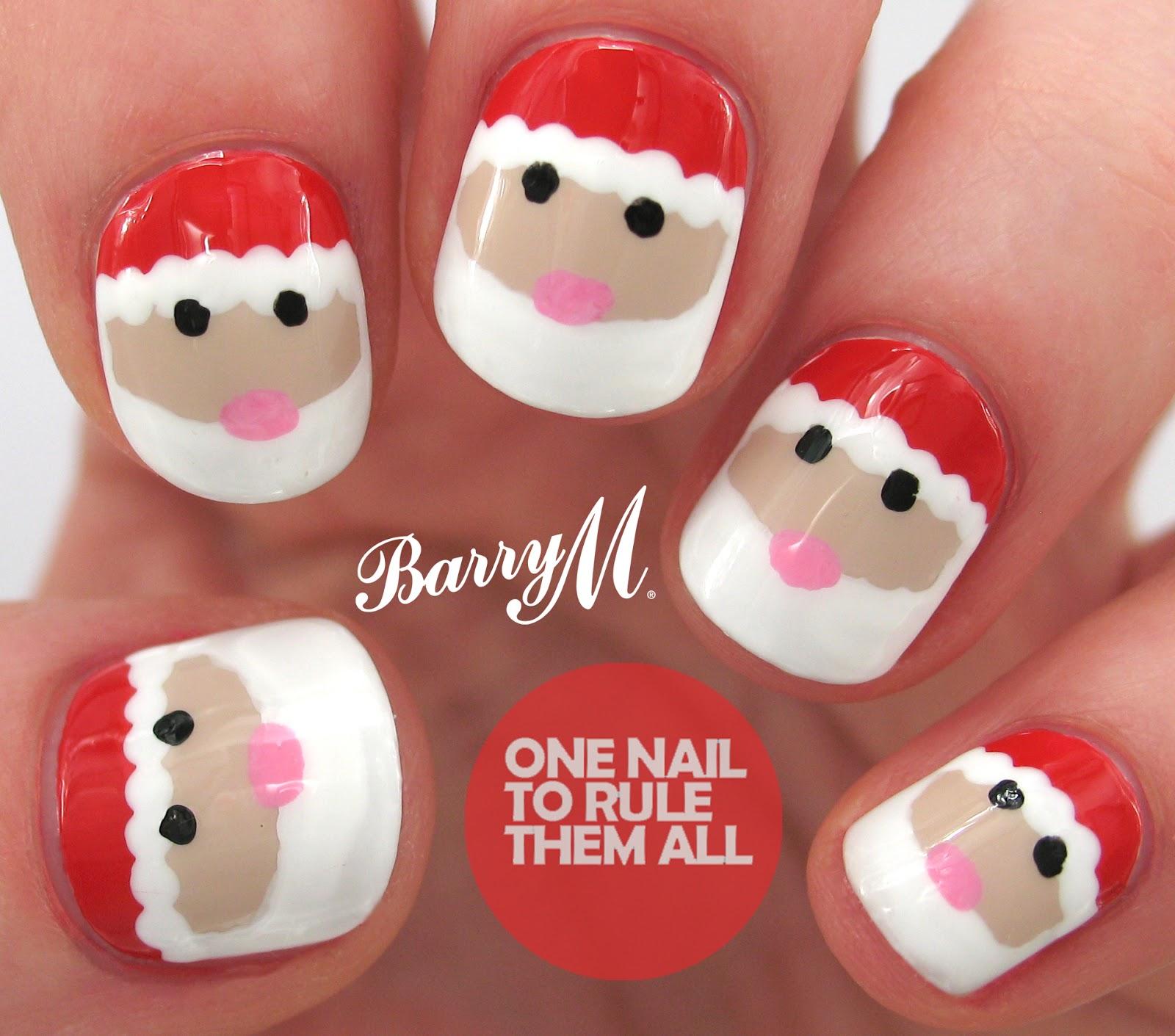 Santa Nail Art: One Nail To Rule Them All: Tutorial Thursday: Santa
