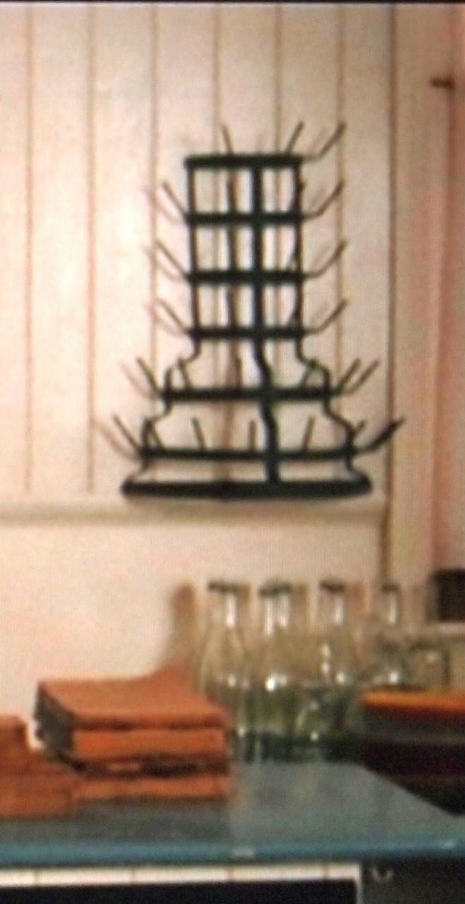 Wall Bottle Drying Rack French Bottle Drying Rack
