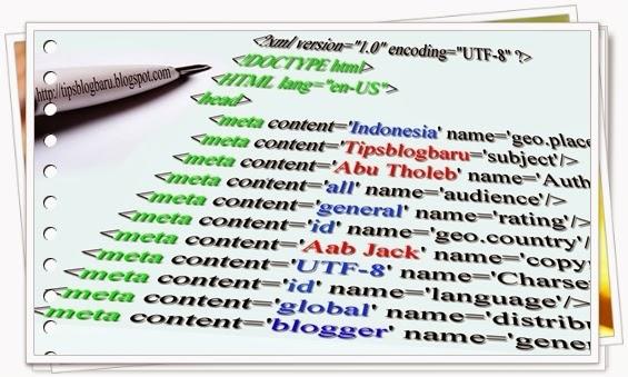 Meta Tag Seo Untuk Blogger