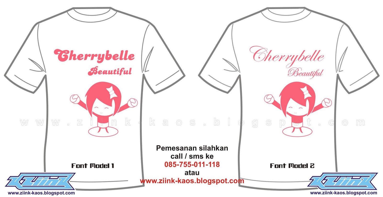 Kaos Lucu Cherry Belle (ChiBi) - Kaos Online Satuan & Lusinan