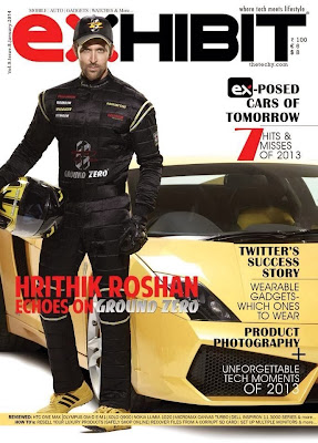 Hrithik Roshan Photoshoot for Exhibit magazine cover page January issue