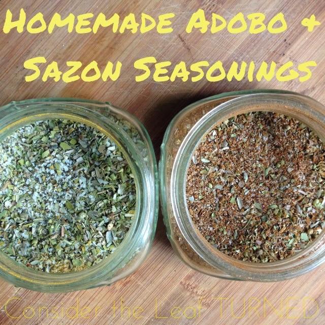 Homemade Adobo And Sazon Seasonings Consider The Leaf Turned