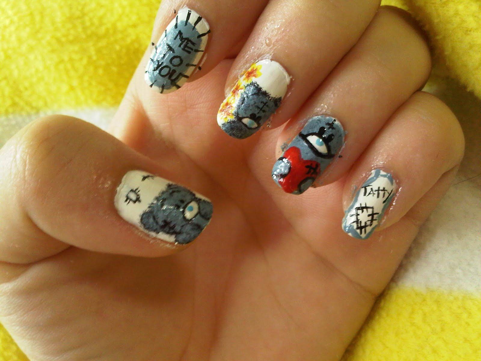 Me To U Tatty Bear Nail Art
